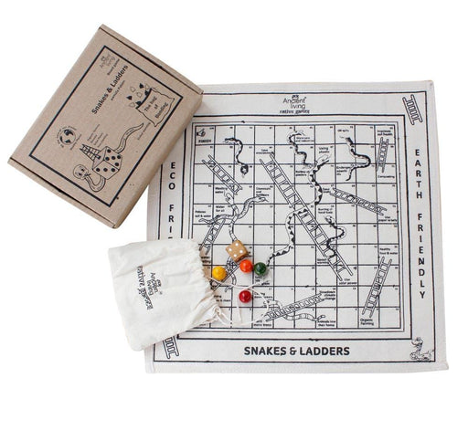 The Nestery : Ancient Living - Snake And Ladder - Board Game