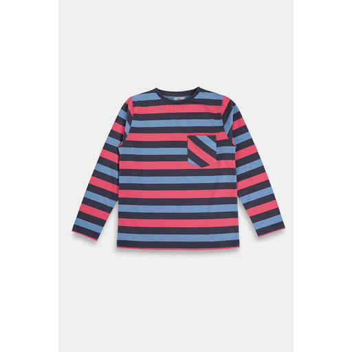 The Nestery  : Anthrilo - Blue Stripe Knit T-Shirt