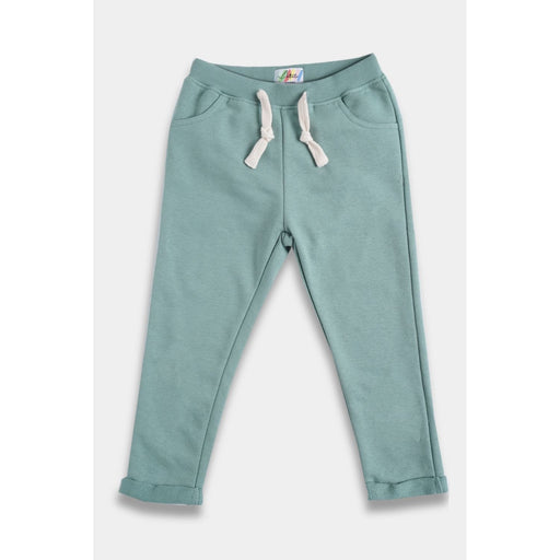 The Nestery : Anthrilo - Oil Green Plain Plush Jogger