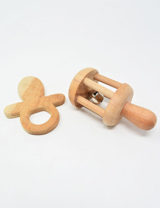 The Nestery: Montessori Toy - Ariro - Infant Gift Set - 2 (Teether, Rattle)