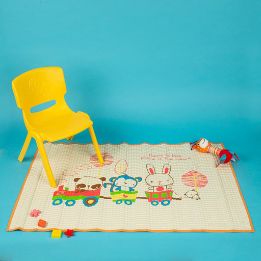 The Nestery : Baby Moo - Animal Chu Chu Train Orange - Air Filled Waterproof Massage Mat