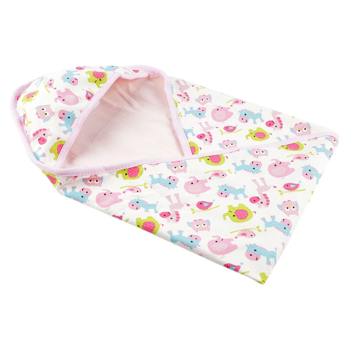 The Nestery : Baby Moo - Animal Print Pink - Wrapper