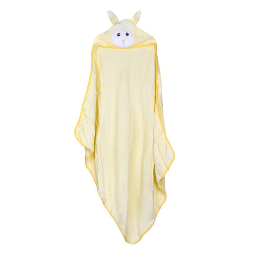 The Nestery : Baby Moo - Animal Print Yellow Animal - Hooded Towel