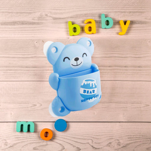 The Nestery : Baby Moo - Bff Bear Blue - Toothbrush Holder