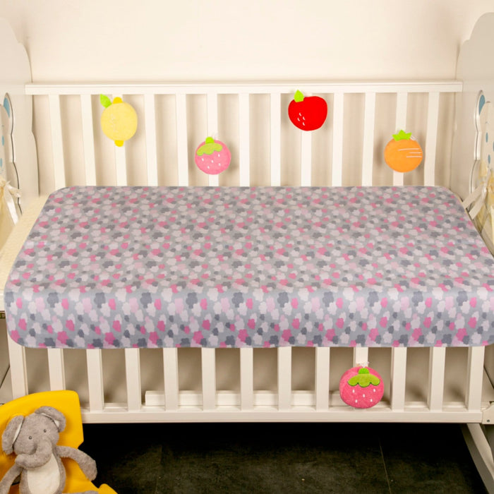 The Nestery : Baby Moo - Cloud Grey - Water-Resistant Bed Protector