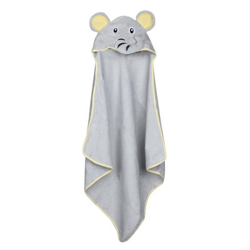 The Nestery : Baby Moo - Elephant Grey Animal - Hooded Towel