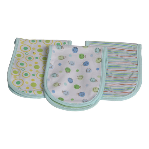 The Nestery : Baby Moo - Fun In The Ocean Blue - Burp Cloth (Pack Of 3)