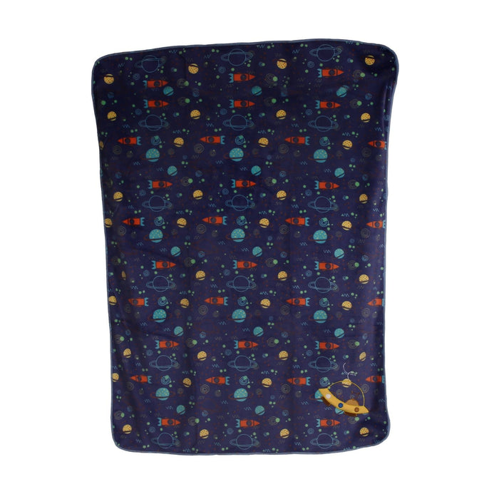 The Nestery : Baby Moo - Galaxy Dark Blue - Fur Blanket