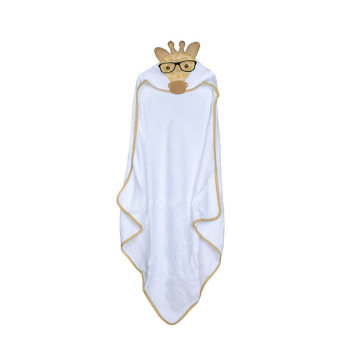 The Nestery : Baby Moo - Giraffe White Animal - Hooded Towel