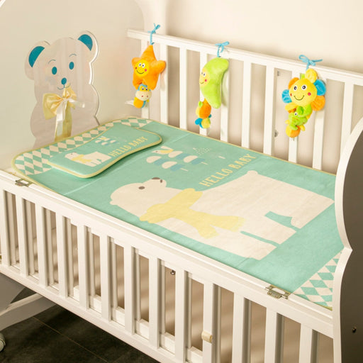 The Nestery : Baby Moo - Hello Baby Green - Washable Mat With Pillow