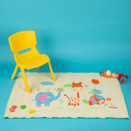 The Nestery : Baby Moo - I Love Animals Green - Air Filled Waterproof Massage Mat