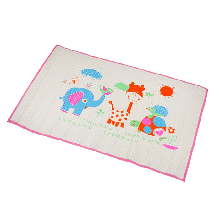 The Nestery : Baby Moo - I Love Animals Pink - Air Filled Waterproof Massage Mat
