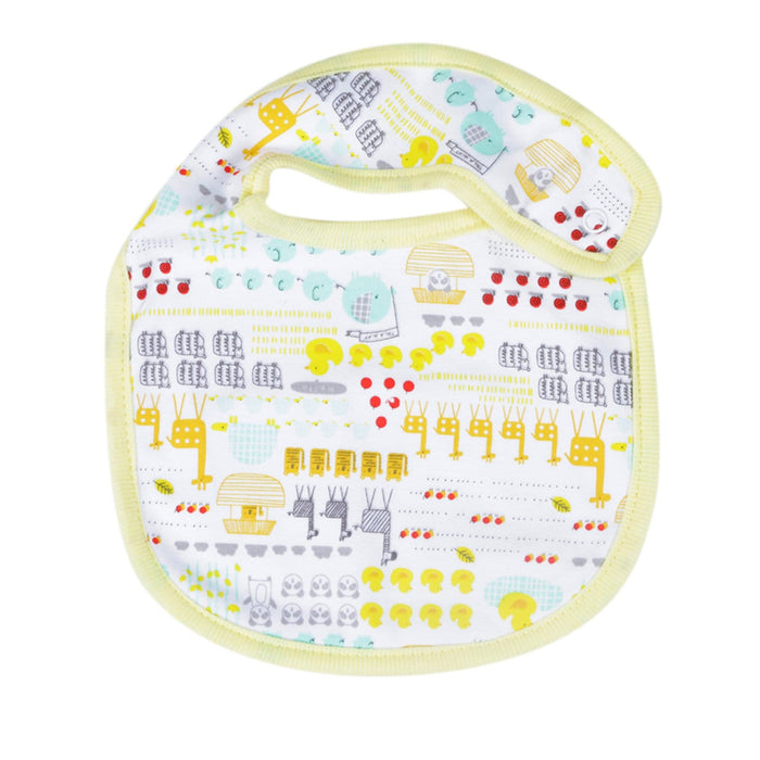 The Nestery : Baby Moo - I Love Animals Yellow - Bibs (Pack Of 2)