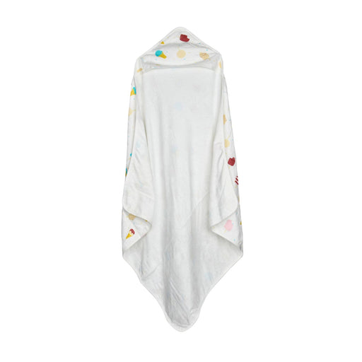 The Nestery : Baby Moo - Ice Cream White Muslin & Bamboo - Hooded Towel