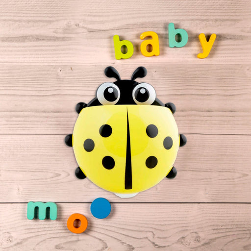 The Nestery : Baby Moo - Ladybug Yellow - Toothbrush Holder