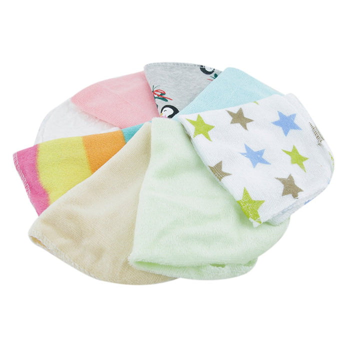 The Nestery : Baby Moo - Printed (2426) - Multicolour Wash Cloth (Pack Of 8)