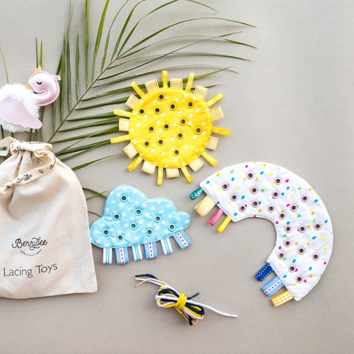 The Nestery : Berry Bee - Weather Lacing Toy