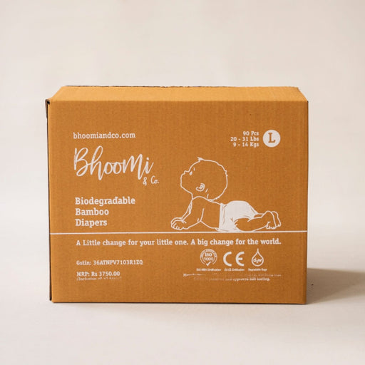 The Nestery : Bhoomi & Co - Diapers (Large) - Pack Of 90
