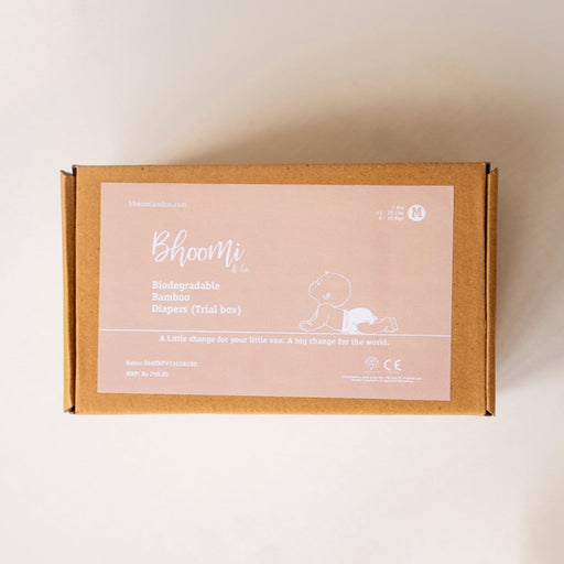 The Nestery : Bhoomi & Co - Diapers (Medium) - Trial Pack Box
