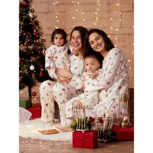 The Nestery : Block Hop - Mommy And Baby Organic Christmas Snuggle Pj'S