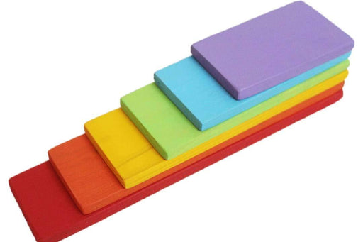 RAINBOW BUILDING BOARDS STACKER (COLOURED) - 7