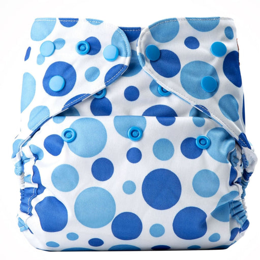 The Nestery: Bumberry - Diaper Cover - Blue Dots + 2 Wet Free Inserts