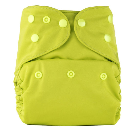 The Nestery: Bumberry - Diaper Cover - Bright Green + 2 Wet Free Inserts