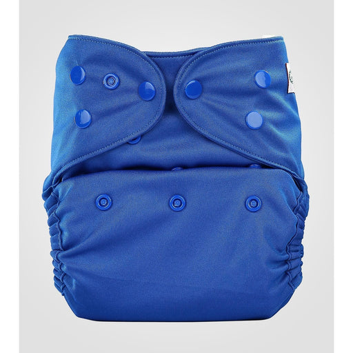 The Nestery: Bumberry - Diaper Cover - Deep Blue + 1 Natural Bamboo Cotton Insert