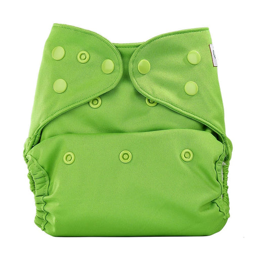 The Nestery: Bumberry - Diaper Cover - Deep Green + 1 Natural Bamboo Cotton Insert