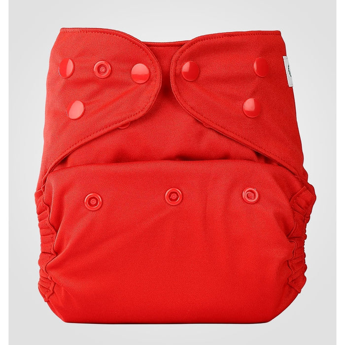 The Nestery: Bumberry - Diaper Cover - Deep Red + 1 Natural Bamboo Cotton Insert
