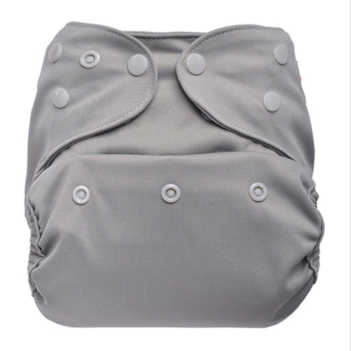 The Nestery: Bumberry - Diaper Cover - Grey + 1 Natural Bamboo Cotton Insert