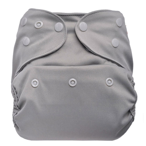 The Nestery: Bumberry - Diaper Cover - Grey + 2 Wet Free Inserts