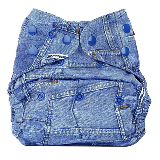 The Nestery: Bumberry - Diaper Cover - Jeans + 1 Natural Bamboo Cotton Insert