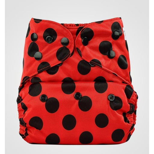 The Nestery: Bumberry - Diaper Cover - Lady Bug + 1 Natural Bamboo Cotton Insert