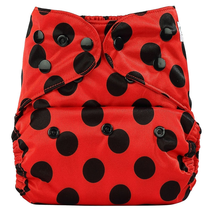 The Nestery: Bumberry - Diaper Cover - Lady Bug + 2 Wet Free Inserts