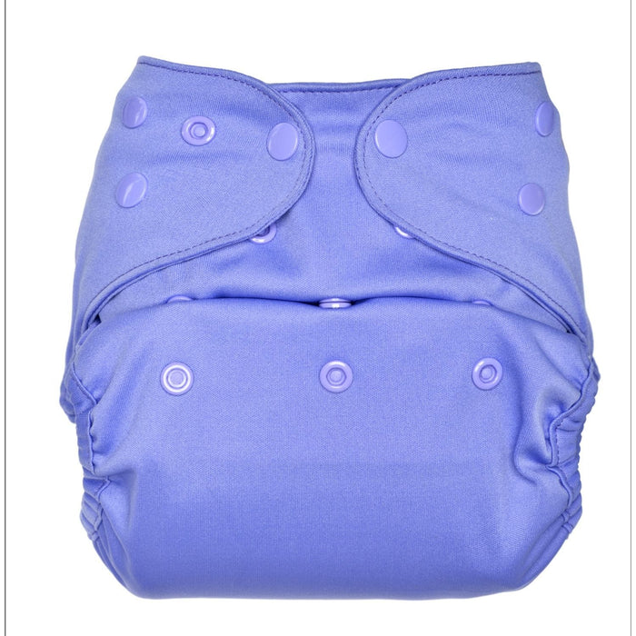 The Nestery: Bumberry - Diaper Cover - Lavender + 1 Natural Bamboo Cotton Insert