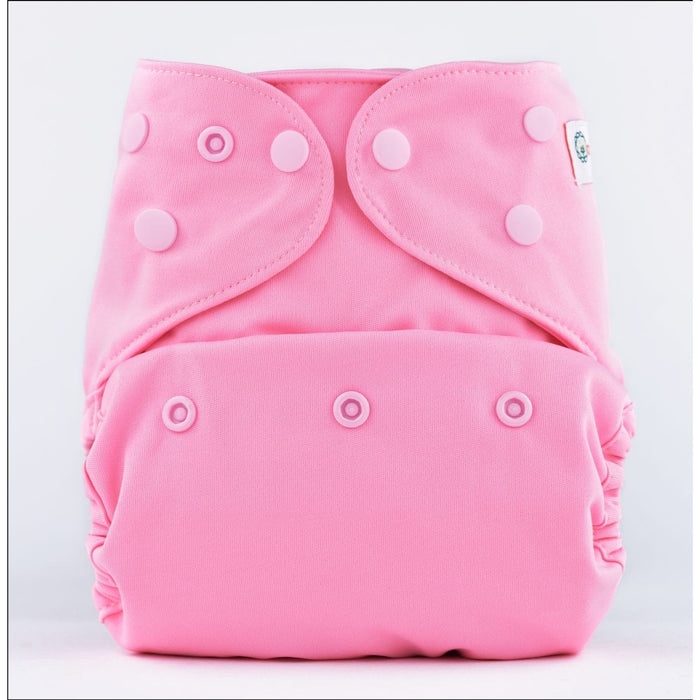 The Nestery: Bumberry - Diaper Cover - Pink + 1 Natural Bamboo Cotton Insert