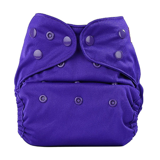 The Nestery: Bumberry - Diaper Cover - Purple + 1 Natural Bamboo Cotton Insert