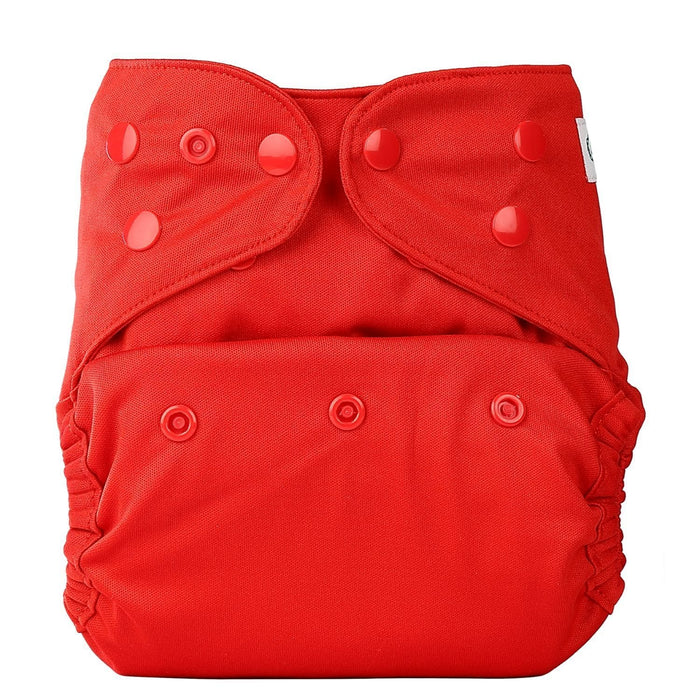 The Nestery: Bumberry - Diaper Cover - Red + 2 Wet Free Inserts