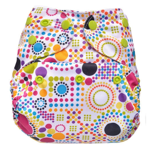 The Nestery: Bumberry - Diaper Cover - Retro Print + 2 Wet Free Inserts