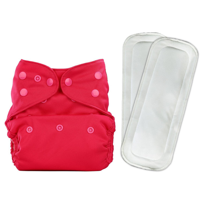 The Nestery: Bumberry - Diaper Cover - Rose Pink + 2 Wet Free Inserts