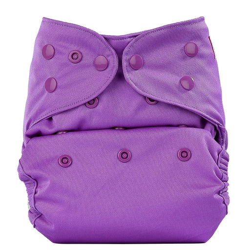 The Nestery: Bumberry - Diaper Cover - Violet + 2 Wet Free Inserts