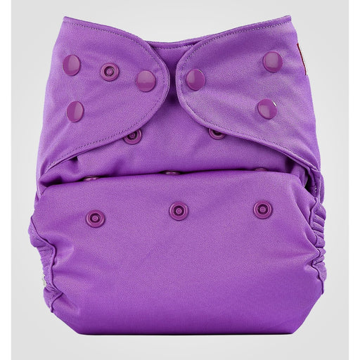 The Nestery: Bumberry - Diaper Cover - Violette + 1 Natural Bamboo Cotton Insert