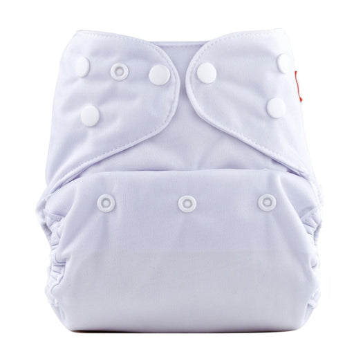 The Nestery: Bumberry - Diaper Cover - White + 2 Wet Free Inserts