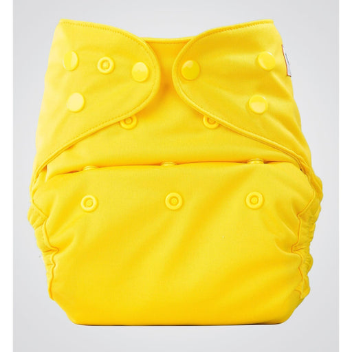 The Nestery: Bumberry - Diaper Cover - Yellow + 1 Natural Bamboo Cotton Insert
