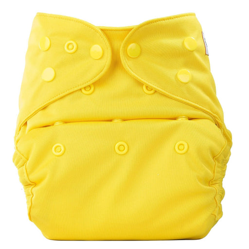 The Nestery: Bumberry - Diaper Cover - Yellow + 2 Wet Free Inserts