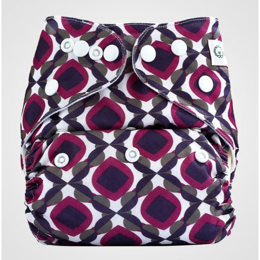 The Nestery: Bumberry - Pocket Diaper - Beetroot + 1 Microfiber Insert