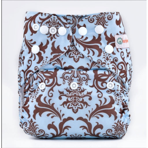 The Nestery: Bumberry - Pocket Diaper - Blue Brown Royal + 1 Microfiber Insert