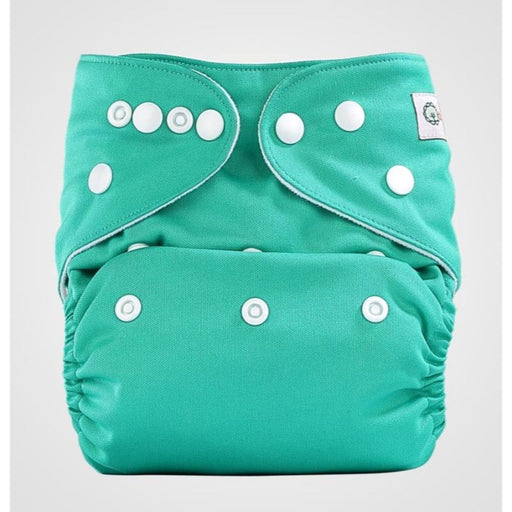 The Nestery: Bumberry - Pocket Diaper - Blue Green + 1 Microfiber Insert