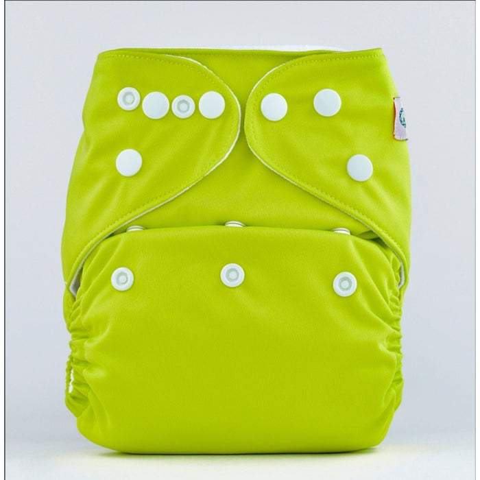 The Nestery: Bumberry - Pocket Diaper - Bright Green + 1 Microfiber Insert